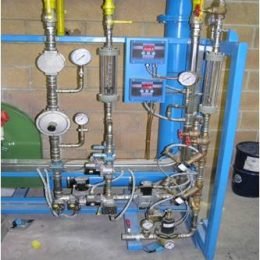 Day Tank Air-Gas Oxygen Combustion System